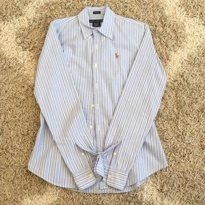 RALPH LAUREN cotton button down, sz 2 slim fit